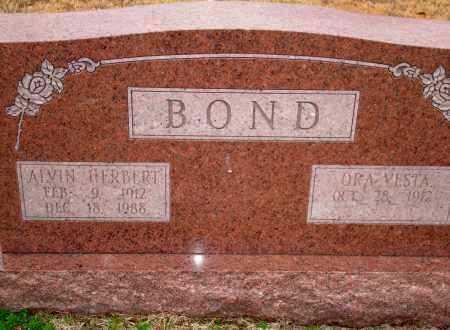 BOND, ALVIN HERBERT - Yell County, Arkansas | ALVIN HERBERT BOND - Arkansas Gravestone Photos