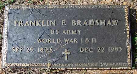 BRADSHAW (VETERAN WWII), FRANKLIN E - Yell County, Arkansas | FRANKLIN E BRADSHAW (VETERAN WWII) - Arkansas Gravestone Photos