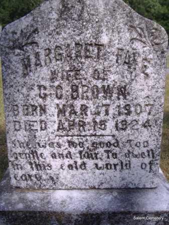 BROWN, MARGARET  FAY - Yell County, Arkansas | MARGARET  FAY BROWN - Arkansas Gravestone Photos