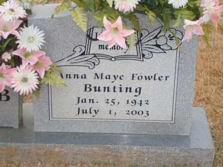 FOWLER BUNTING, ANNA MAYE - Yell County, Arkansas | ANNA MAYE FOWLER BUNTING - Arkansas Gravestone Photos