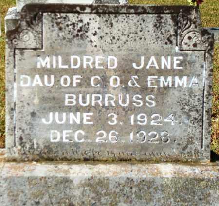 BURRUSS, MILDRED JANE - Yell County, Arkansas | MILDRED JANE BURRUSS - Arkansas Gravestone Photos
