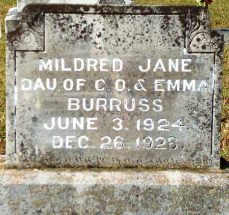 BURRUSS, MILDRED JANE - Yell County, Arkansas | MILDRED JANE BURRUSS - Arkansas Gravestone Photos