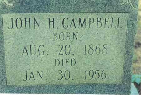 CAMPBELL, JOHN H. - Yell County, Arkansas   JOHN H. CAMPBELL - Arkansas Gravestone Photos