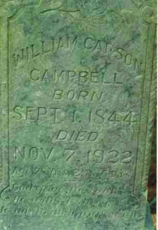 CAMPBELL, WILLIAM CARSON - Yell County, Arkansas | WILLIAM CARSON CAMPBELL - Arkansas Gravestone Photos
