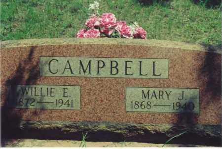 CAMPBELL, WILLIE E. (WILLIAM EDWARD) - Yell County, Arkansas | WILLIE E. (WILLIAM EDWARD) CAMPBELL - Arkansas Gravestone Photos