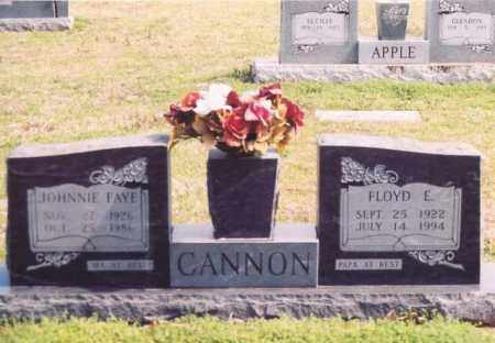 CANNON, JOHNNIE FAYE - Yell County, Arkansas | JOHNNIE FAYE CANNON - Arkansas Gravestone Photos