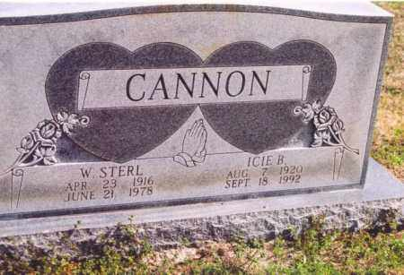 CANNON, WILLIAM STERL - Yell County, Arkansas   WILLIAM STERL CANNON - Arkansas Gravestone Photos