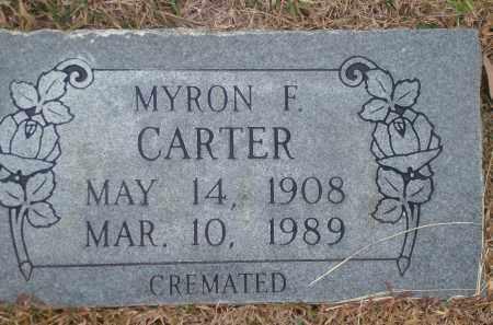 CARTER, MYRON F. - Yell County, Arkansas | MYRON F. CARTER - Arkansas Gravestone Photos