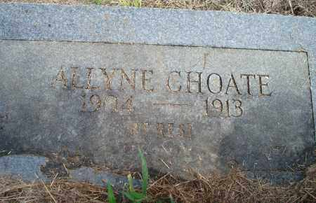 CHOATE, ALLYNE - Yell County, Arkansas | ALLYNE CHOATE - Arkansas Gravestone Photos