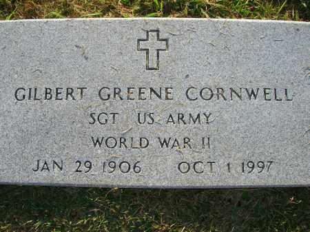 CORNWELL (VETERAN WWII), GILBERT GREENE - Yell County, Arkansas | GILBERT GREENE CORNWELL (VETERAN WWII) - Arkansas Gravestone Photos