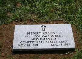 COUNTS  (VETERAN CSA), HENRY - Yell County, Arkansas   HENRY COUNTS  (VETERAN CSA) - Arkansas Gravestone Photos