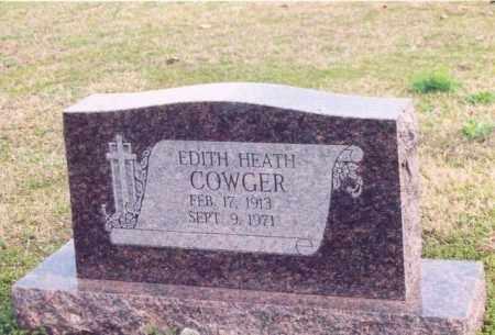 COWGER, EDITH HEATH - Yell County, Arkansas | EDITH HEATH COWGER - Arkansas Gravestone Photos