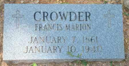 CROWDER, FRANCIS MARION - Yell County, Arkansas | FRANCIS MARION CROWDER - Arkansas Gravestone Photos