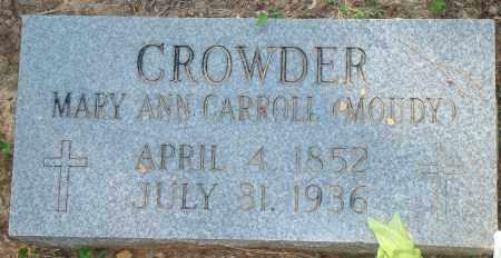 CROWDER, MARY ANN - Yell County, Arkansas   MARY ANN CROWDER - Arkansas Gravestone Photos
