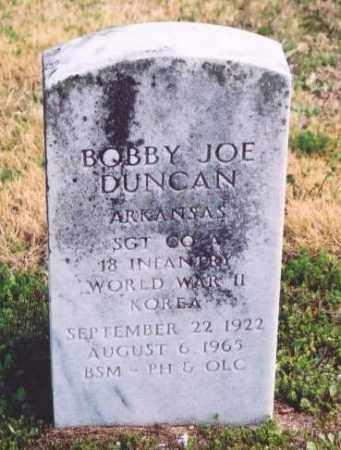 DUNCAN (VETERAN 2 WARS), BOBBY JOE - Yell County, Arkansas   BOBBY JOE DUNCAN (VETERAN 2 WARS) - Arkansas Gravestone Photos