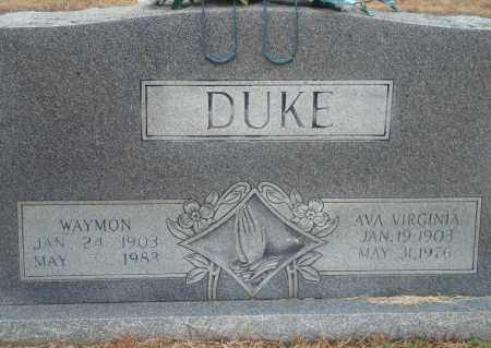 DUKE, AVA VIRGINIA - Yell County, Arkansas | AVA VIRGINIA DUKE - Arkansas Gravestone Photos