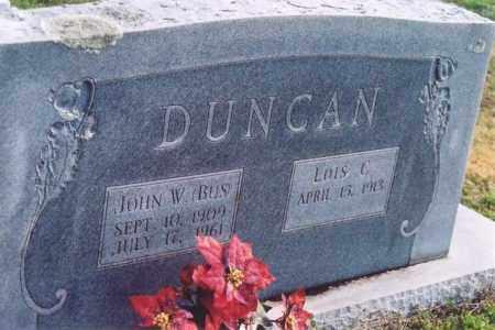 "DUNCAN, JOHN W ""BUS"" - Yell County, Arkansas | JOHN W ""BUS"" DUNCAN - Arkansas Gravestone Photos"