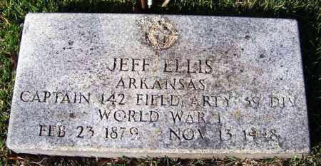 ELLIS (VETERAN WWI), JEFF - Yell County, Arkansas | JEFF ELLIS (VETERAN WWI) - Arkansas Gravestone Photos
