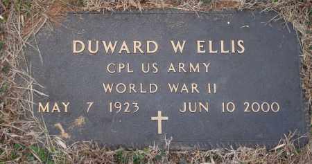 ELLIS (VETERAN WWII), DUWARD W - Yell County, Arkansas | DUWARD W ELLIS (VETERAN WWII) - Arkansas Gravestone Photos
