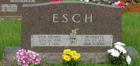 ESCH, VAN HENRY - Yell County, Arkansas   VAN HENRY ESCH - Arkansas Gravestone Photos