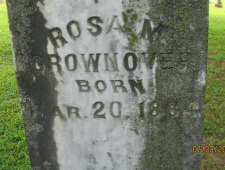 GROWNOVER, ROSA M (CLOSEUP) - Yell County, Arkansas | ROSA M (CLOSEUP) GROWNOVER - Arkansas Gravestone Photos