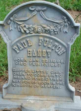 HANEY, PAUL FULTON - Yell County, Arkansas | PAUL FULTON HANEY - Arkansas Gravestone Photos