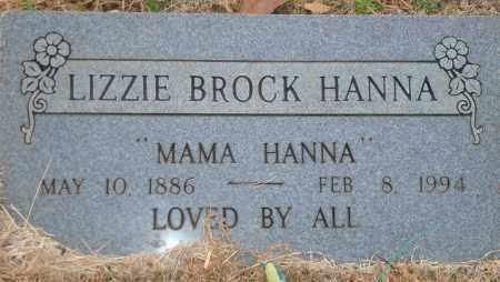 BROCK HANNA, LIZZIE - Yell County, Arkansas | LIZZIE BROCK HANNA - Arkansas Gravestone Photos