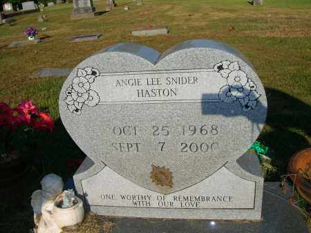 SNIDER HASTON, ANGIE LEE - Yell County, Arkansas | ANGIE LEE SNIDER HASTON - Arkansas Gravestone Photos