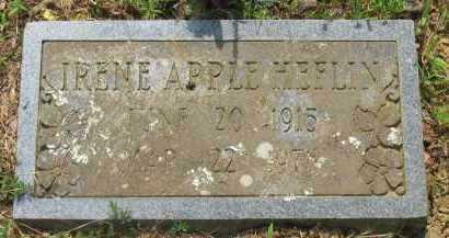 APPLE HEFLIN, IRENE - Yell County, Arkansas | IRENE APPLE HEFLIN - Arkansas Gravestone Photos