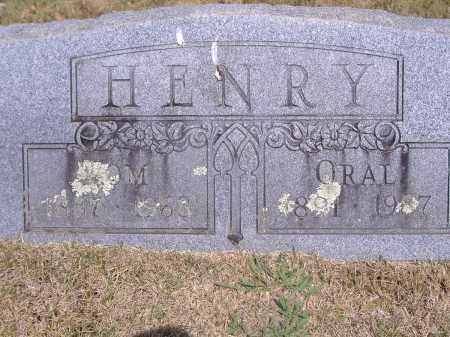 HENRY, ORAL - Yell County, Arkansas | ORAL HENRY - Arkansas Gravestone Photos