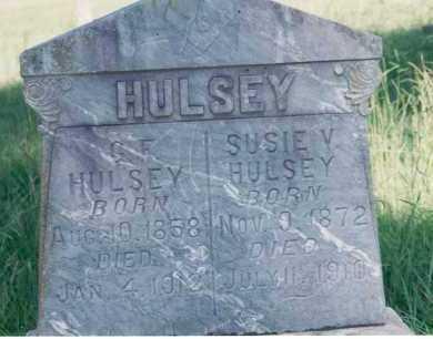 GEORGE HULSEY, SUSIE VIRGINIA ARMOUR - Yell County, Arkansas | SUSIE VIRGINIA ARMOUR GEORGE HULSEY - Arkansas Gravestone Photos