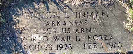 INMAN (VETERAN 2 WARS), JUNIOR L - Yell County, Arkansas | JUNIOR L INMAN (VETERAN 2 WARS) - Arkansas Gravestone Photos