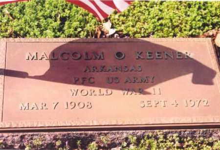 KEENER (VETERAN WWII), MALCOM O - Yell County, Arkansas   MALCOM O KEENER (VETERAN WWII) - Arkansas Gravestone Photos