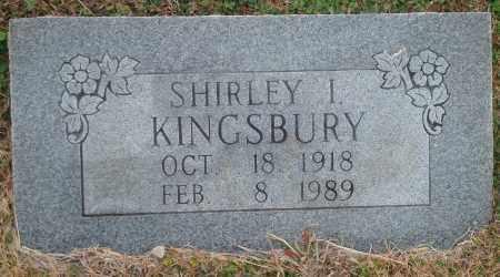 KINGSBURY, SHIRLEY I. - Yell County, Arkansas | SHIRLEY I. KINGSBURY - Arkansas Gravestone Photos