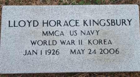 KINGSBURY (VETERAN 2 WARS), LLOYD HORACE - Yell County, Arkansas   LLOYD HORACE KINGSBURY (VETERAN 2 WARS) - Arkansas Gravestone Photos