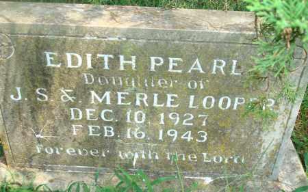 PEARL LOOPER, EDITH - Yell County, Arkansas | EDITH PEARL LOOPER - Arkansas Gravestone Photos