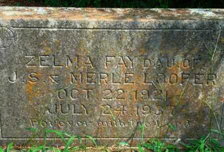 LOOPER, ZELMA FAY - Yell County, Arkansas | ZELMA FAY LOOPER - Arkansas Gravestone Photos