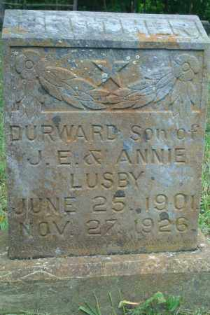 LUSBY, DURWARD - Yell County, Arkansas | DURWARD LUSBY - Arkansas Gravestone Photos