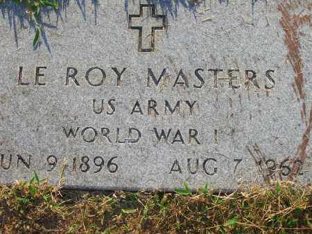 MASTERS (VETERAN WWI), LEROY - Yell County, Arkansas | LEROY MASTERS (VETERAN WWI) - Arkansas Gravestone Photos