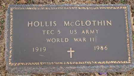 MCGLOTHIN (VETERAN WWII), HOLLIS - Yell County, Arkansas | HOLLIS MCGLOTHIN (VETERAN WWII) - Arkansas Gravestone Photos