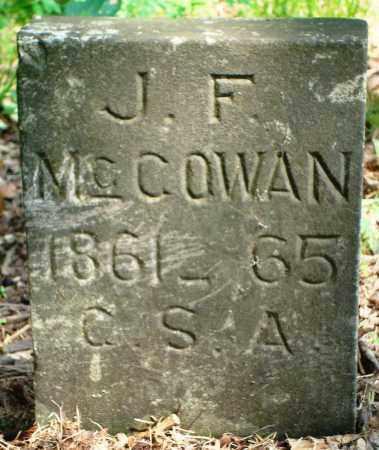 MCCOWAN (VETERAN CSA), JOHN F - Yell County, Arkansas   JOHN F MCCOWAN (VETERAN CSA) - Arkansas Gravestone Photos