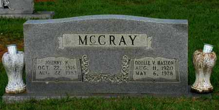 MCCRAY, ODELLE V - Yell County, Arkansas | ODELLE V MCCRAY - Arkansas Gravestone Photos