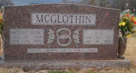 "MCGLOTHIN, HOLLIS ""DICK"" - Yell County, Arkansas | HOLLIS ""DICK"" MCGLOTHIN - Arkansas Gravestone Photos"
