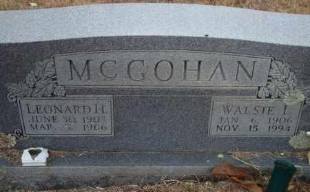 MCGOHAN, LEONARD H. - Yell County, Arkansas | LEONARD H. MCGOHAN - Arkansas Gravestone Photos