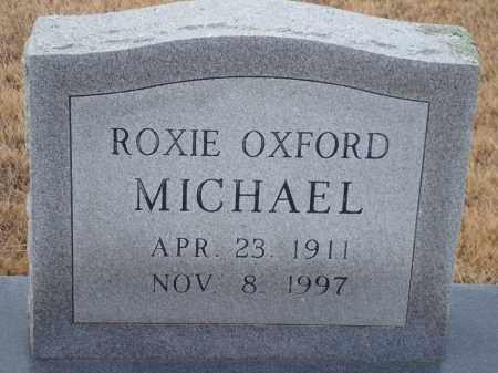 MICHAEL, ROXIE OXFORD - Yell County, Arkansas   ROXIE OXFORD MICHAEL - Arkansas Gravestone Photos