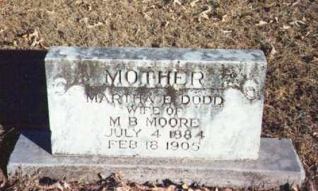 MOORE, MARTHA - Yell County, Arkansas | MARTHA MOORE - Arkansas Gravestone Photos