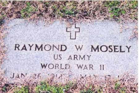 MOSLEY (VETERAN WWII), RAYMOND WILLIAM - Yell County, Arkansas | RAYMOND WILLIAM MOSLEY (VETERAN WWII) - Arkansas Gravestone Photos