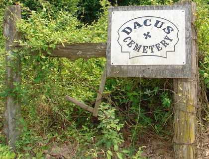 *DACUS CEMETERY SIGN,  - Yell County, Arkansas |  *DACUS CEMETERY SIGN - Arkansas Gravestone Photos