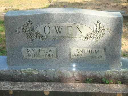 OWEN, ANTHUM - Yell County, Arkansas | ANTHUM OWEN - Arkansas Gravestone Photos