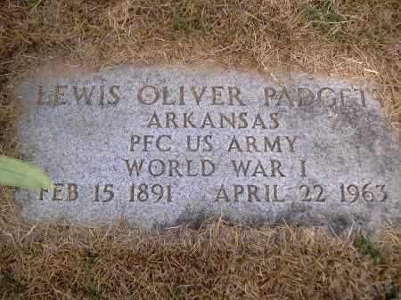 PADGETT (VETERAN WWI), LEWIS OLIVER - Yell County, Arkansas | LEWIS OLIVER PADGETT (VETERAN WWI) - Arkansas Gravestone Photos
